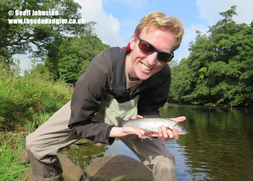 Brian tempted his first Grayling to take a dry fly