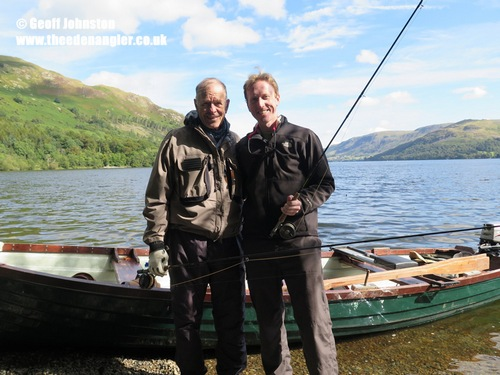 Father (John) and son (Brian) enjoying their day on Ullswater
