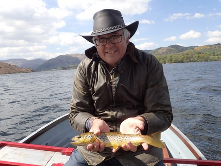 Colin shows off his first Ullswater trout