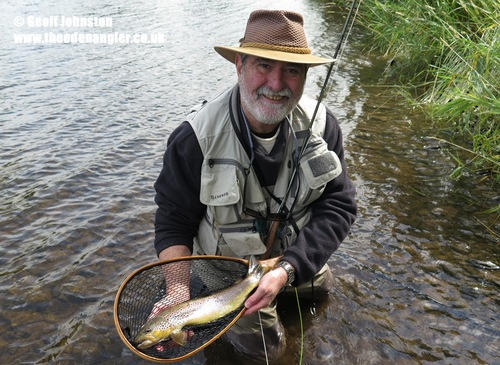 David with a nice Eden Brown Trout on his September visit