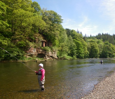 Fly fishing lessons in beautiful surroundings