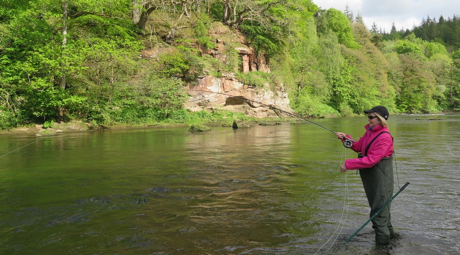 Fly fishing lessons on the River Eden