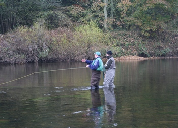 Fly fishing tuition in Cumbria