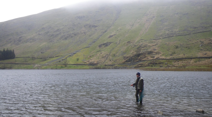 Fly fishing Haweswater in the Lake District