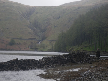 Fly fishing on the banks of Haweswater