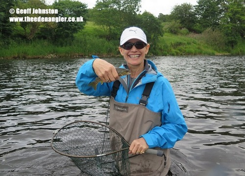 Lisa's first English trout