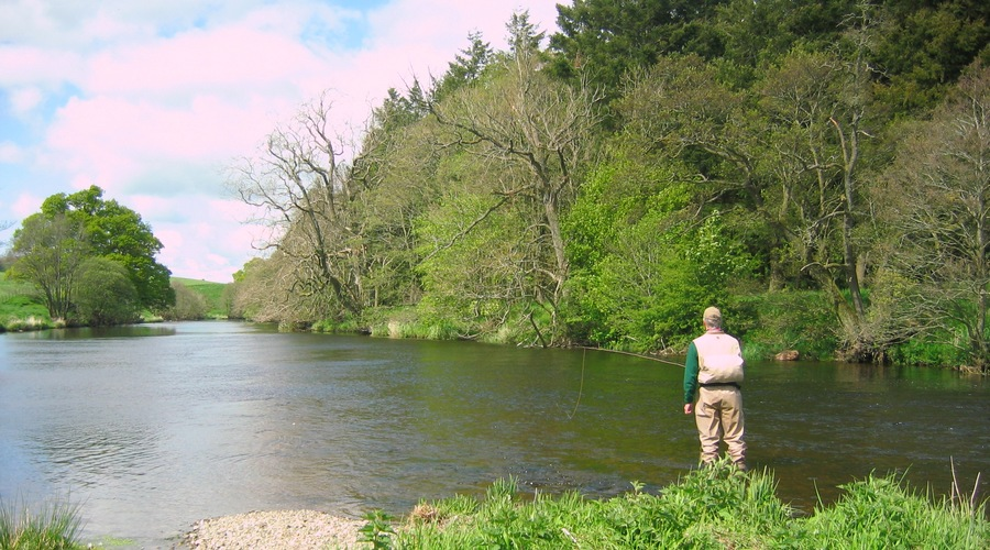Fly fishing the River Lowther in the beautiful Lowther Valley