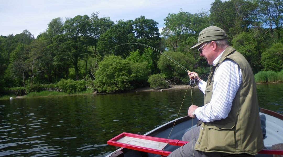 Fly fish from a boat on Ullswater