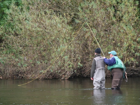 Fly casting tuition - looking at the roll cast