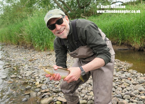 MIke with his first Eden trout
