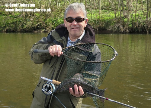 Peter with a nice out-of-season Grayling