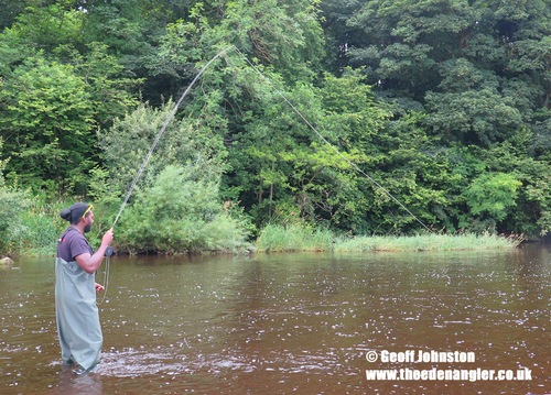 Jimmy catches fish in Eden
