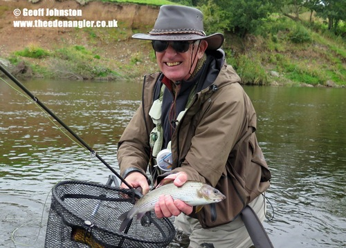 Mike with a Grayling on his latest visit to Eden