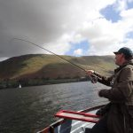 Malc plays a fish on Ullswater