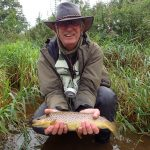 Mike with a PB Eden trout
