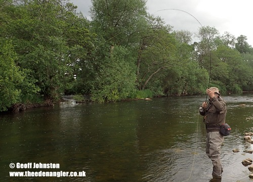 Barry bends into a fish whilst fishing the 'Duo'