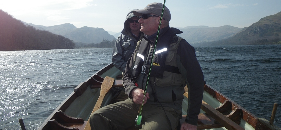 Fishing with friends on Ullswater
