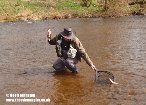 Mike nets his first Eden trout of 2018