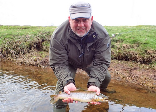 Thorsten's first fish fell to a 'March Brown Emerger'