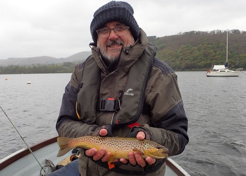 Colin with a beautiful lake trout from Ullswater
