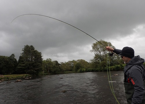 Hakan worked the upstream nymph to good effect