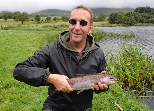 Paul with his first Rainbow