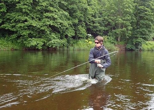 Finn plays a decent fish