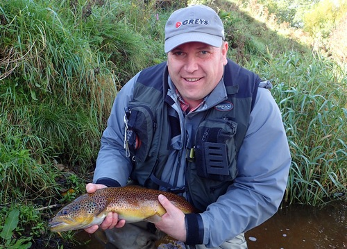 A beautiful 3lbs 6oz Eden trout for Alan