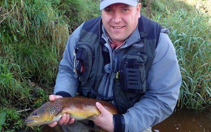 a 3lbs 6oz River Eden trout for Alan